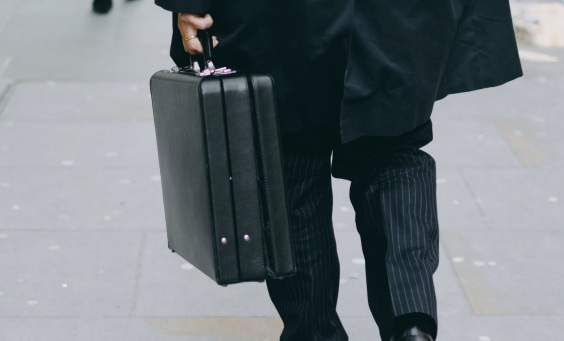 Image of a man with a briefcase