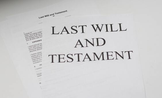 Image of a last will and testament