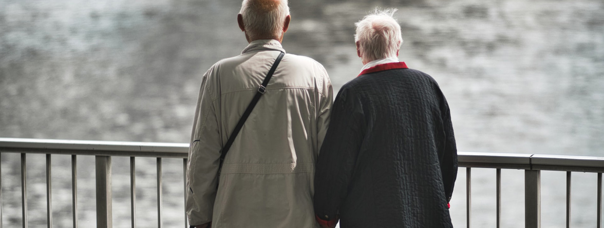 Picture of two old people