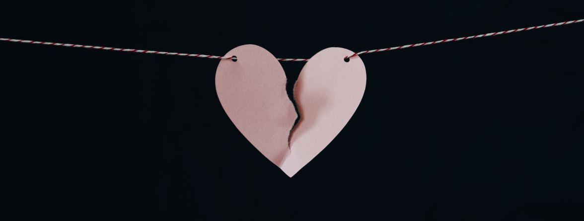 Picture of a heart representing divorce, annulment and separation for gay couples