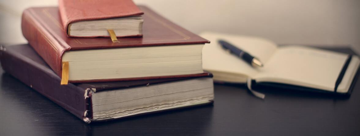 Image of some books and writing material