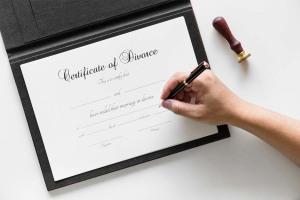 Image of a divorce certificate